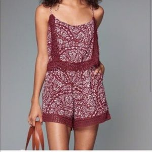 HOST PICK | A&F Burgundy Floral Lace Romper